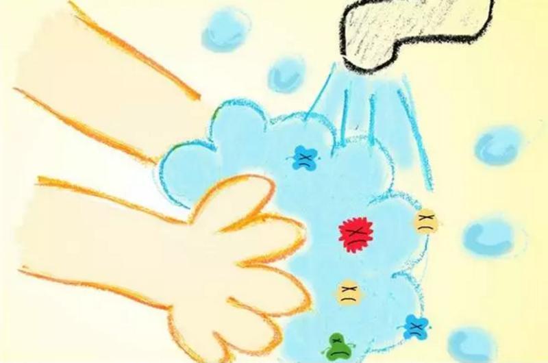 落实勤洗手图片