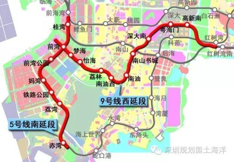 拟定站名方案:赤湾、荔湾、铁路公园、妈湾、前湾公园、前湾、桂湾