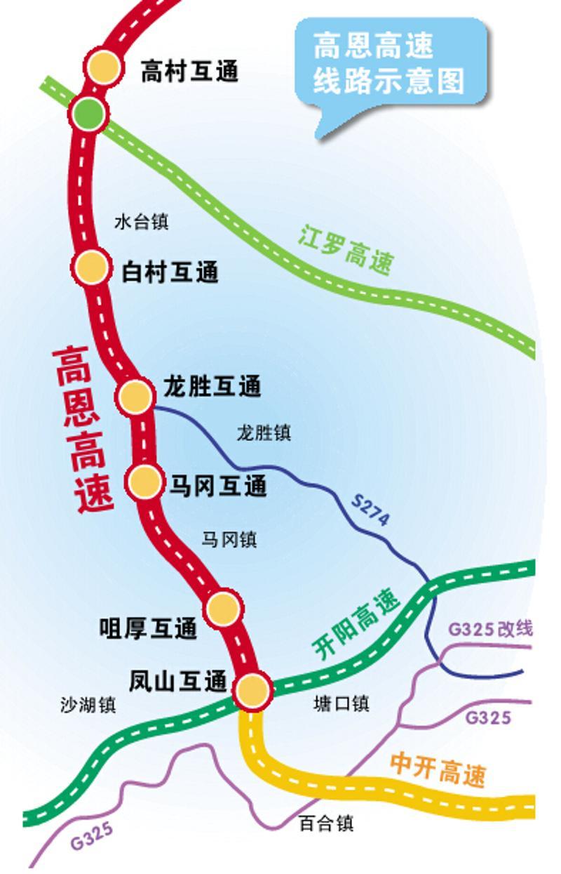 高恩高速计划后年通车 途经高明新兴开平恩平