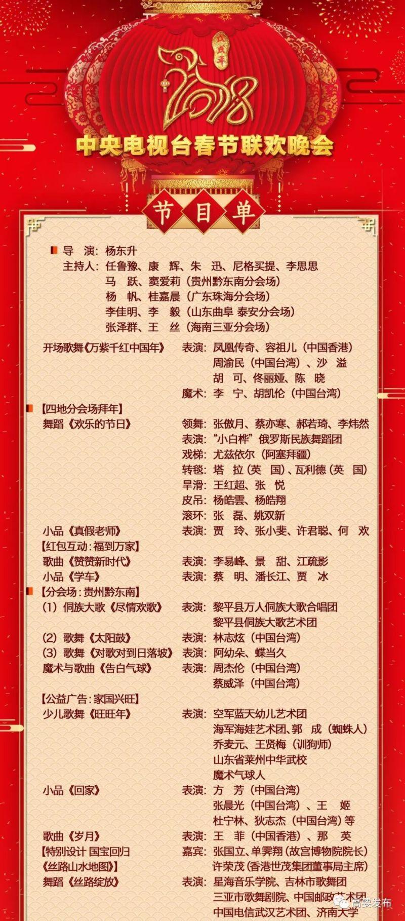 """2018央視春晚節目單為您備好,除夕夜和家人享受""""春晚""""圖片"""