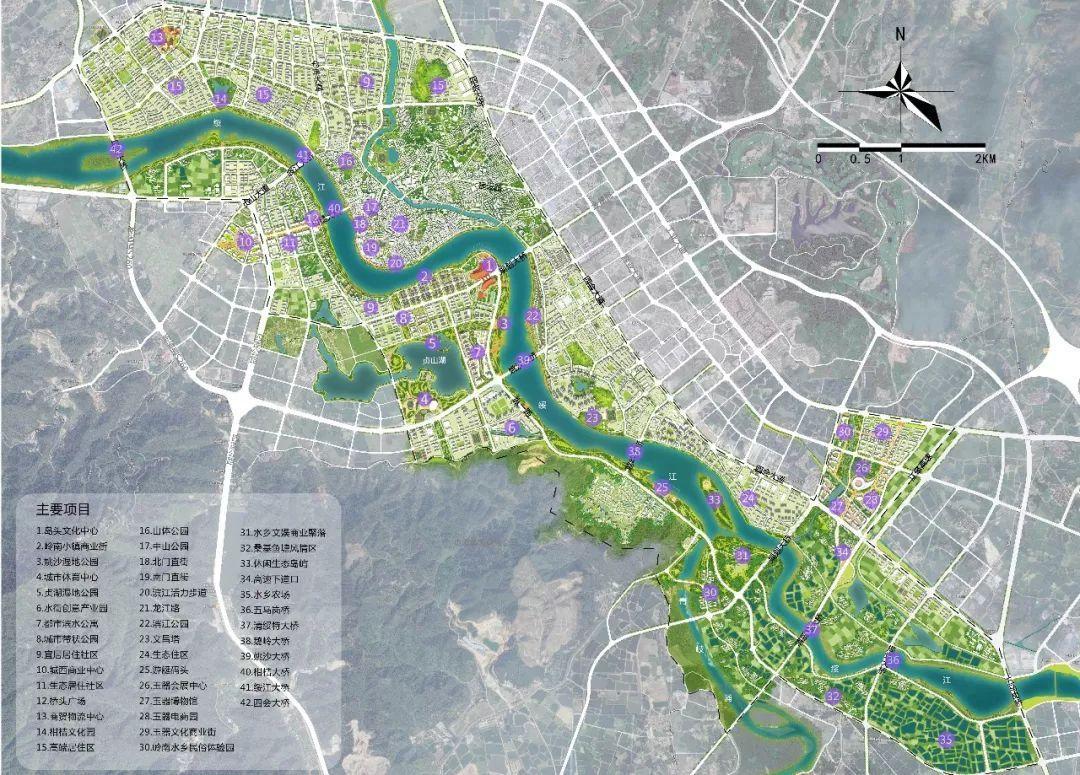 """绥江""""一河两岸""""城市设计竞赛结果出炉!未来四会是这图片"""